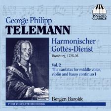 Front cover Telemann Vol. 2